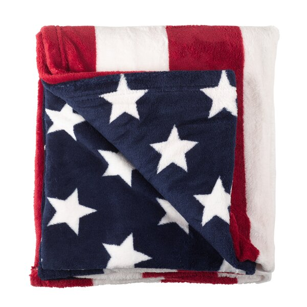 Tansey American Flag Stars and Stripes 4th of July Blanket by Winston Porter