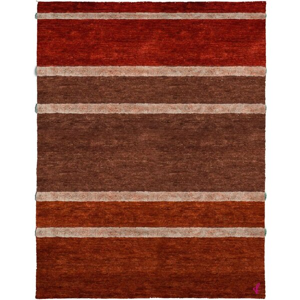 One-of-a-Kind Angelo Hand-Knotted Traditional Style Brown/Orange/Red 8' x 10' Wool Area Rug