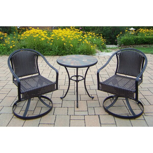 Stone Art 3 Piece Bistro Set by Oakland Living