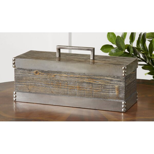 Gray Decorative Box with Lid by Laurel Foundry Modern Farmhouse