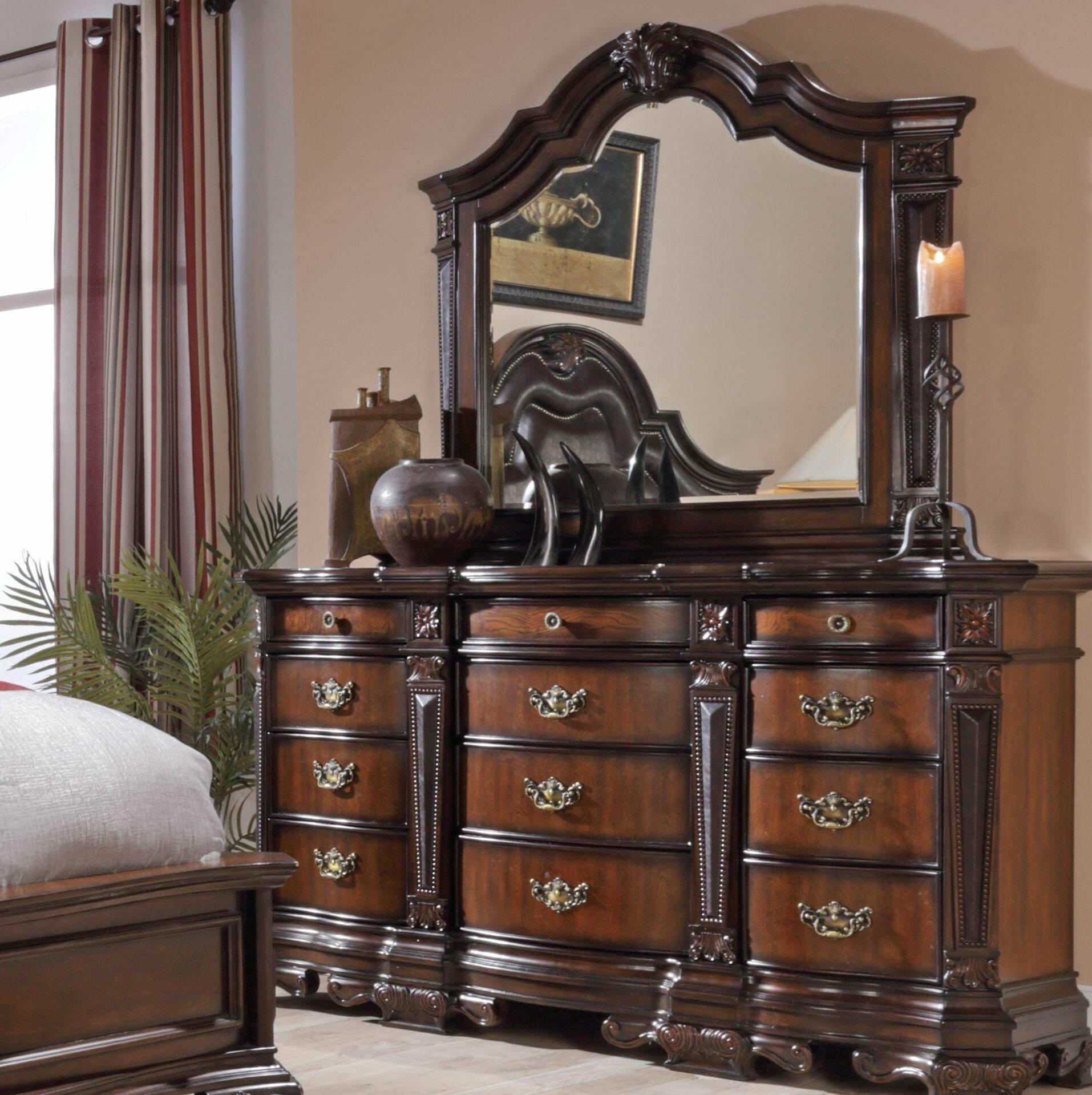 Astoria Grand Murtagh 12 Drawer Dresser With Mirror Wayfair