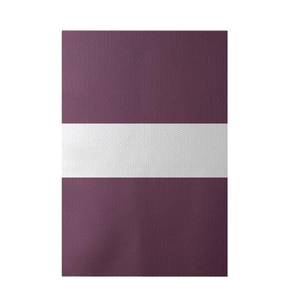 Narrow the Gap Stripe Print Plum Indoor/Outdoor Area Rug by e by design