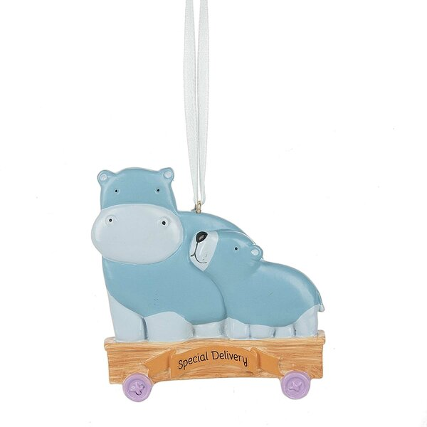 Special Delivery Hippo Hanging Figurine by The Hol