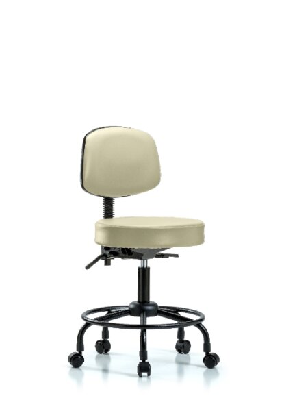Clementine Round Tube Base Height Adjustable Lab Stool by Symple Stuff