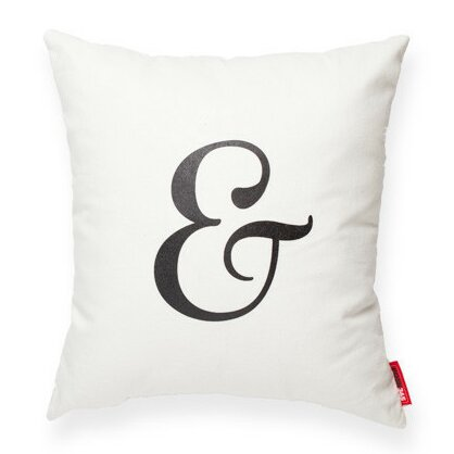 Symbol Ampersand Decorative Cotton Throw Pillow by Posh365