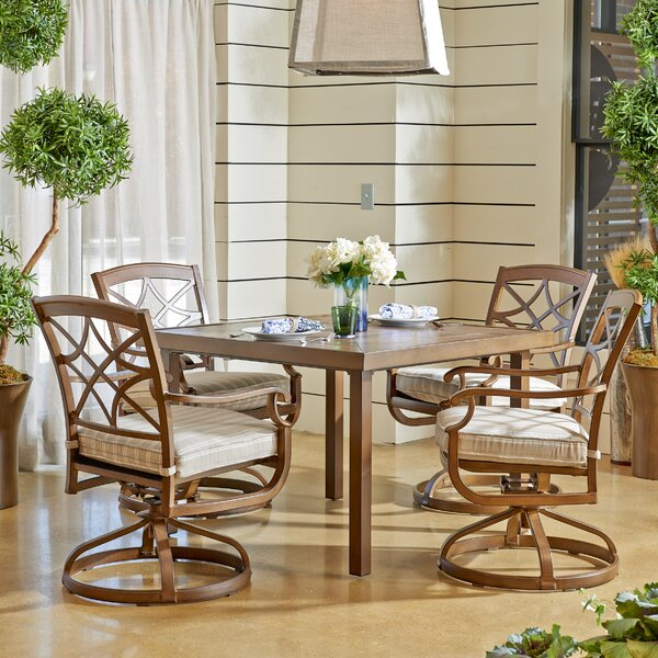 Outdoor 5 Piece Dining Set with Cushions by Trisha Yearwood Home Collection