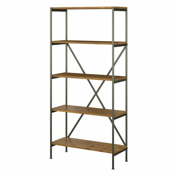 Ironworks 5 Shelf Etagere Bookcase By Kathy Ireland Home By Bush Furniture
