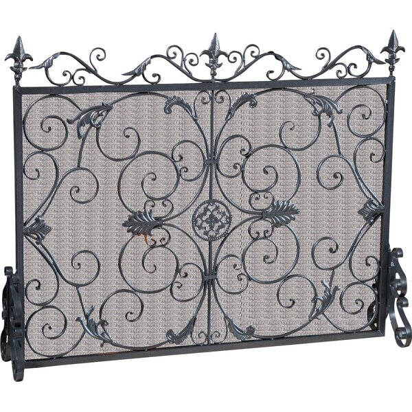 Henry Street Panel Iron Fireplace Screen by Astoria Grand
