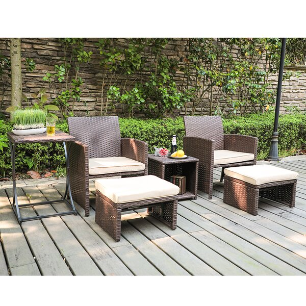 Rand 6 Piece Rattan Seating Group with Cushions by Latitude Run