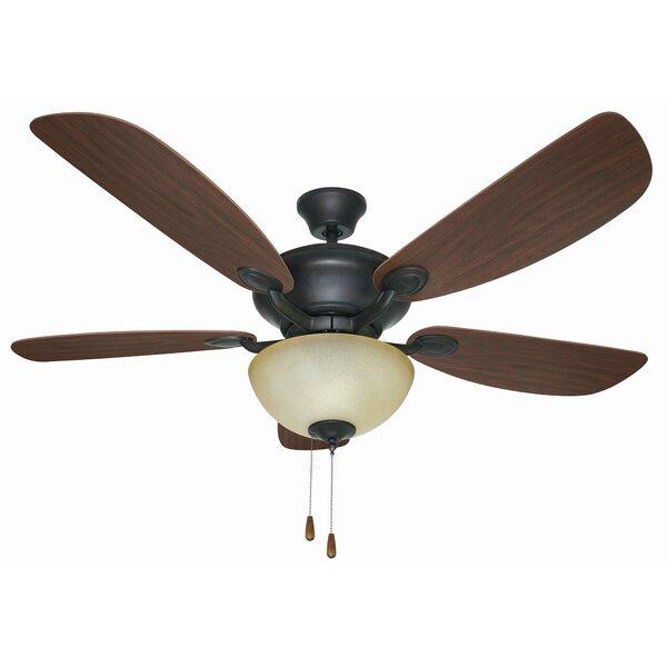 52 Harber Dual Mount 5 Blade Ceiling Fan, Light Kit Included W001725623