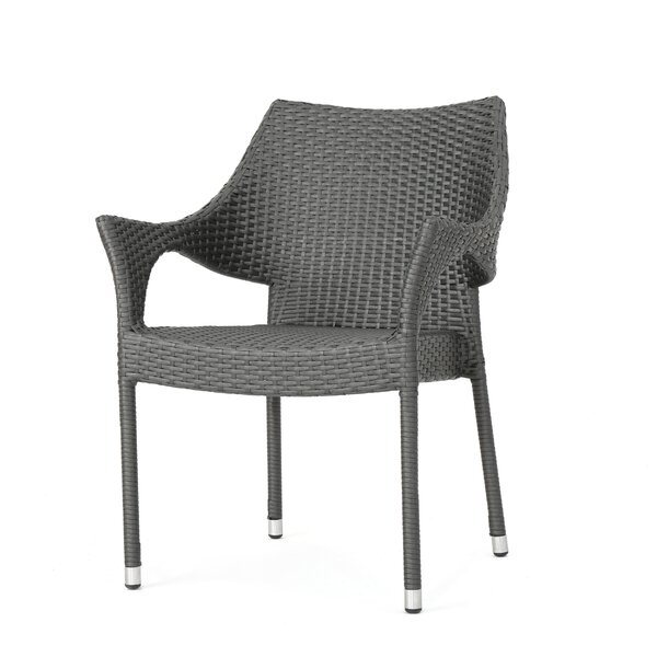Karine Stacking Patio Dining Chair by Orren Ellis