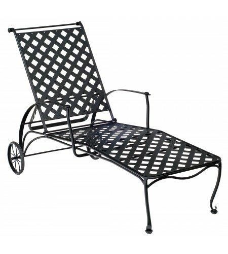 Maddox Reclining Chaise Lounge by Woodard Woodard