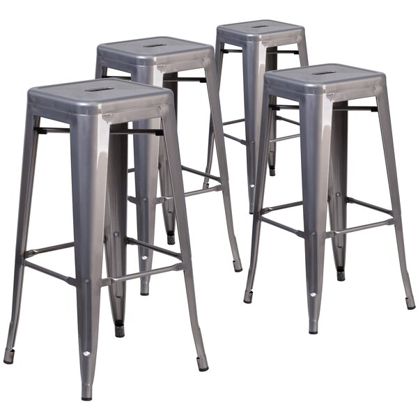 Gualtiero 30 Bar Stool (Set of 4) by 17 Stories