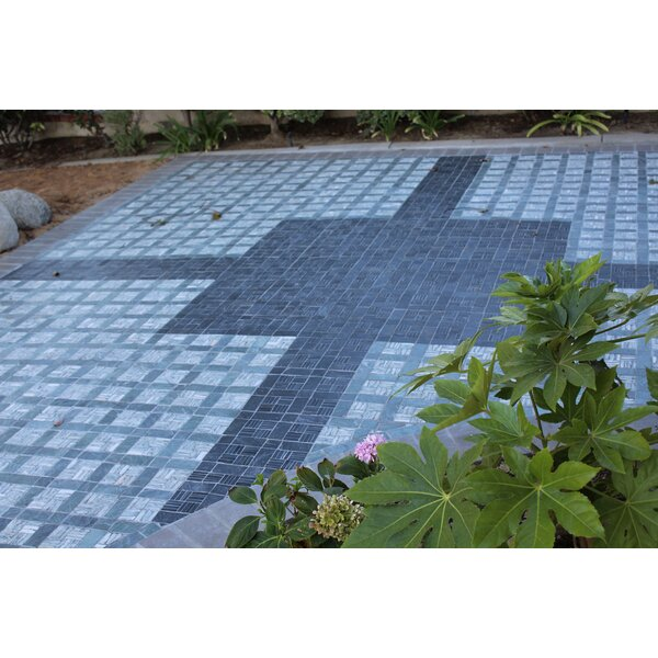 Landscape Wonder 12.5 x 12.5 Basketweave Natural Stone Mosaic Tile in Black and Gray by Intrend Tile
