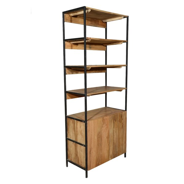 Open Plus Closed Storage Unit Standard Bookcase by Home and Garden Direct