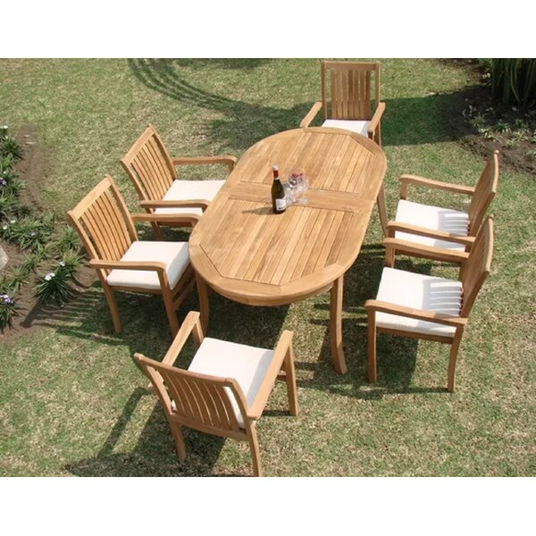 Daryl Luxurious 7 Piece Teak Dining Set by Rosecliff Heights