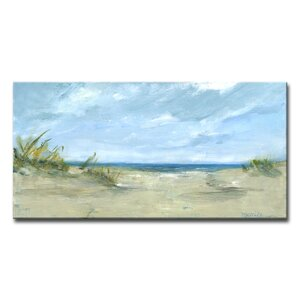 'Sandy Shores' Painting Print on Wrapped Canvas by Highland Dunes
