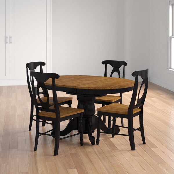 Courtdale 5 Piece Solid Wood Extendable Dining Set by Three Posts Three Posts