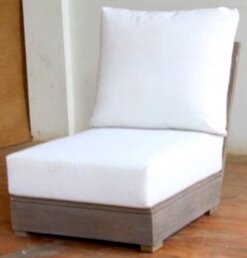 Constance Teak Outdoor Sectional Armless Chair with Sunbrella Cushions by Brayden Studio