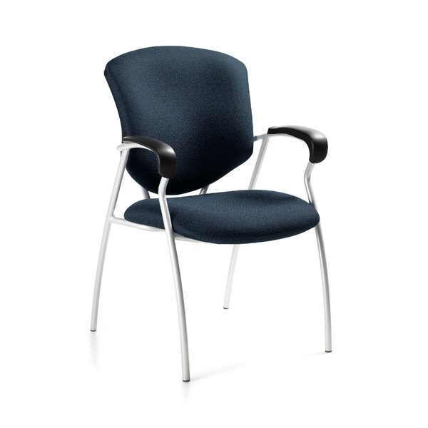 Supra with Round Tube Frame Guest Chair by Global Total Office
