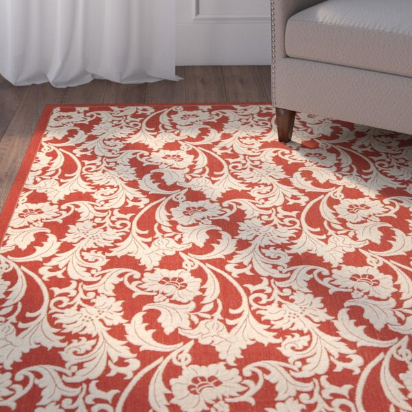 Herefordshire Red / Creme Indoor/Outdoor Area Rug by Winston Porter