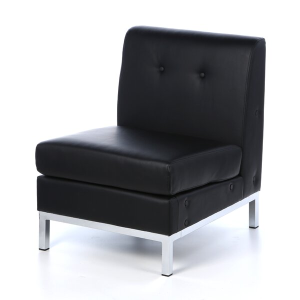 Buschwick Leather Guest Chair By Wade Logan