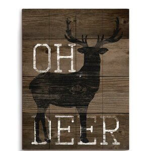 'Oh Deer' Graphic Art Plaque by Union Rustic
