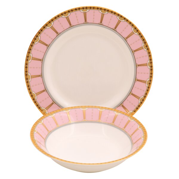 Discovery Bone China 24 Piece Completer Set by Shinepukur Ceramics USA, Inc.