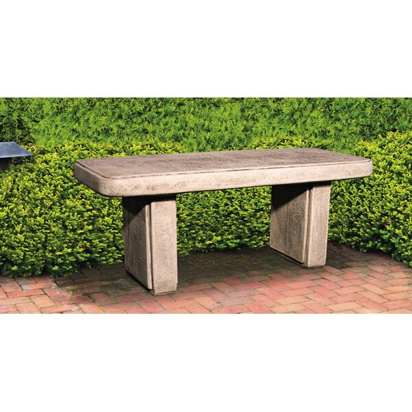 Traditional Stone Garden Bench by Henri Studio