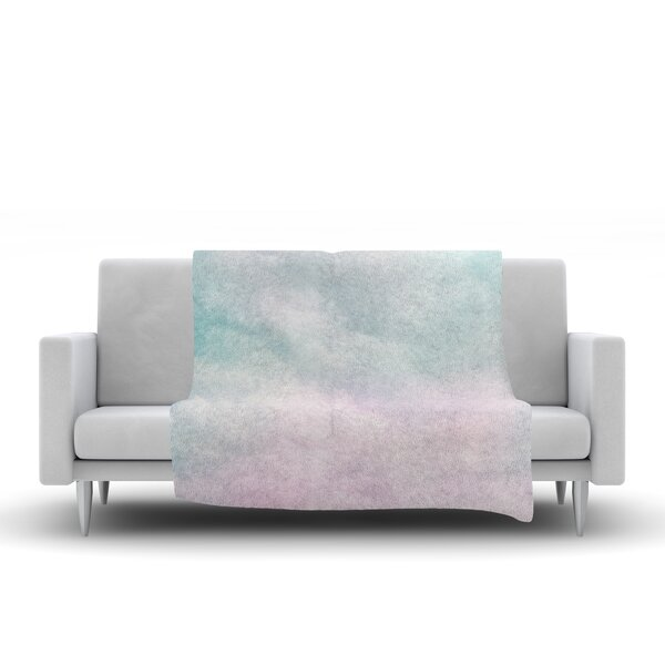 Vintage Clouds by Michelle Drew Fleece Blanket by East Urban Home