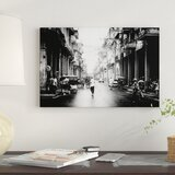 'Cuba Fuerte Collection B&W - Old Havana Street' By Philippe Hugonnard Graphic Art Print on Wrapped Canvas