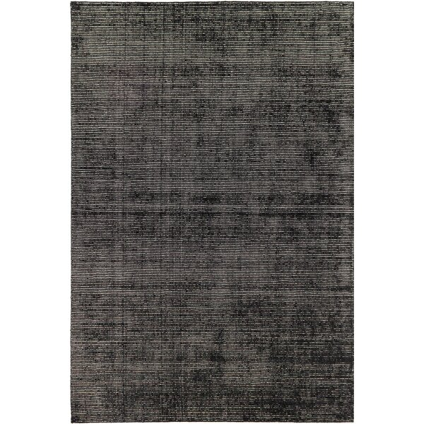 One-of-a-Kind Don Transitional Hand-Knotted Black Area Rug by Latitude Run