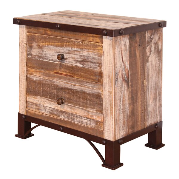 Verdell 2 Drawer Nightstand by Millwood Pines
