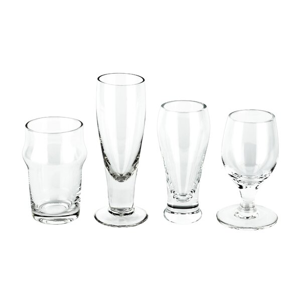 Jusino Craft Beer Shots 4 Piece Glass Assorted Glassware Set (Set of 2) by Winston Porter