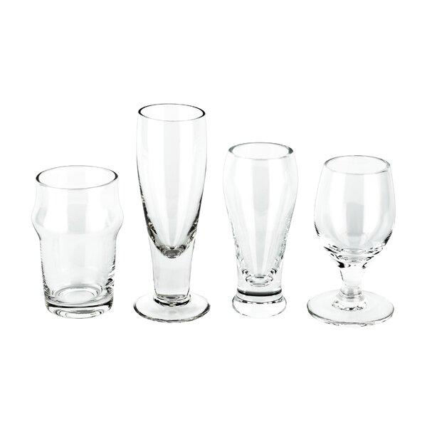 Jusino Craft Beer Shots 4 Piece Glass Assorted Glassware Set (Set of 2) by Winston Porter