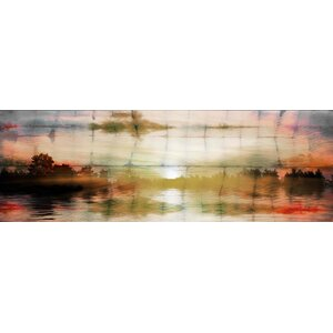 'Painted Sunset' by Parvez Taj Painting Print on Wrapped Canvas by Union Rustic
