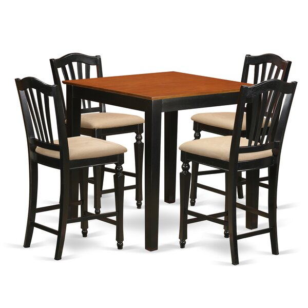 5 Piece Counter Height Pub Table Set By East West Furniture Reviews