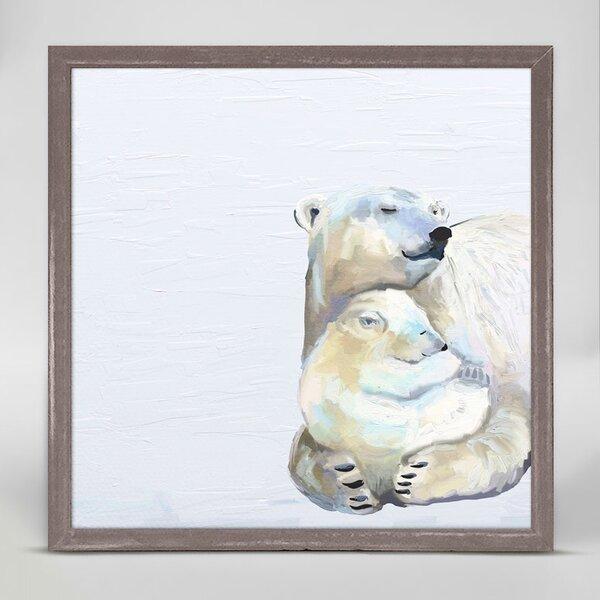 Kristi You And Me Polar Bears Mini Framed Canvas Art by Harriet Bee