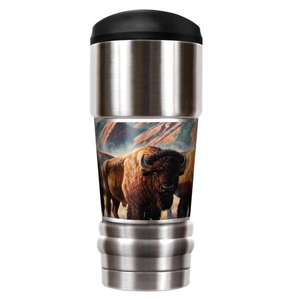 Buffalo Traditions 18 oz. Stainless Steel Travel Tumbler by Great American Products