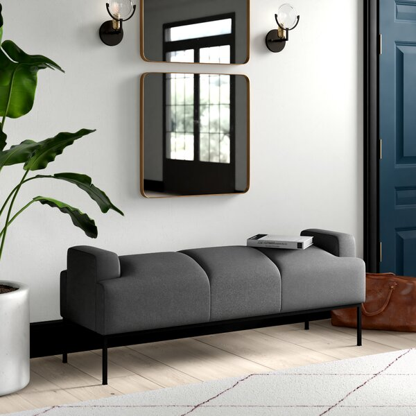 Stickley Faux Leather Bench By Mercury Row