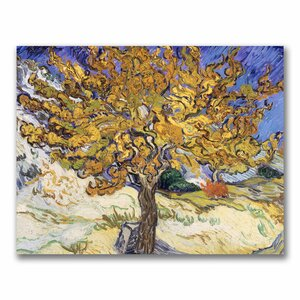 'Mulberry Tree, 1889' by Vincent Van Gogh Painting Print on Canvas by Trademark Fine Art