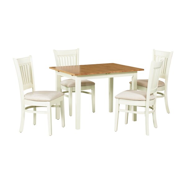 Shipe 5 Piece Extendable Solid Wood Dining Set by August Grove