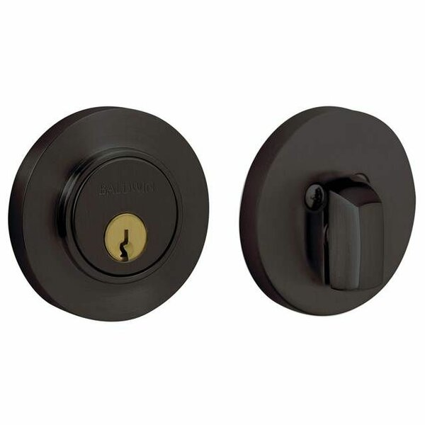 Contemporary Low Profile Single Cylinder Deadbolt for 2-1/8 Bore Hole by Baldwin