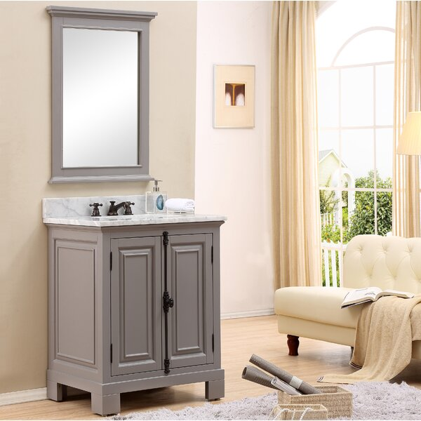 Nico 24 Single Bathroom Vanity Set with Mirror by Alcott HillNico 24 Single Bathroom Vanity Set with Mirror by Alcott Hill
