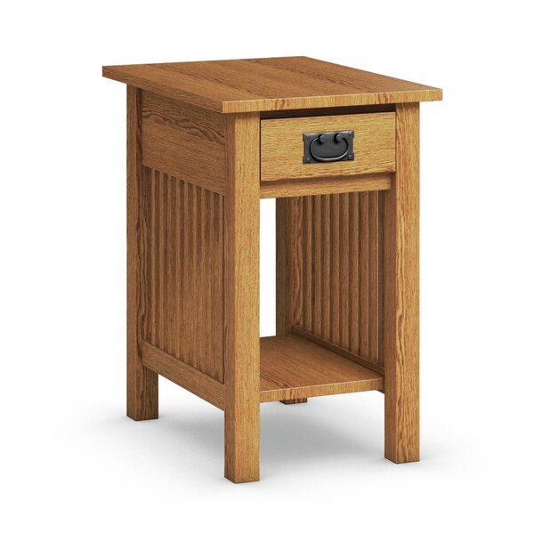 Mission Hills Chairside Table With Drawer by Caravel