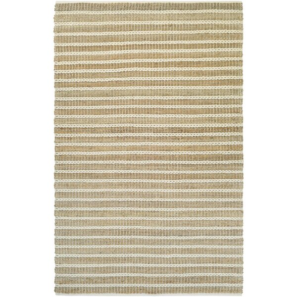 Dabria Desert Hand-Loomed Sand Dune/Ivory Area Rug by Beachcrest Home