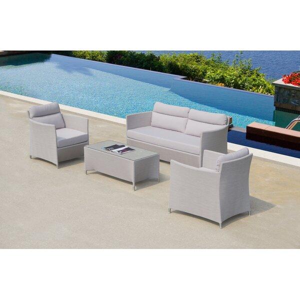 Heenan  4 Piece Sofa Set with Cushions by Orren Ellis