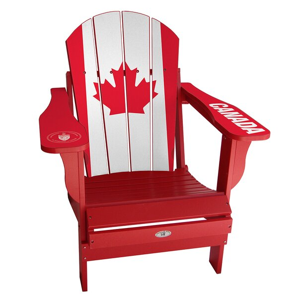 Flag Plastic Folding Adirondack Chair by My Custom Sports Chair