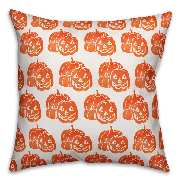 Perseus Jack-O-Lantern Throw Pillow by The Holiday Aisle