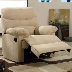 Plush Chaise Manual Glider Recliner by Acme Image